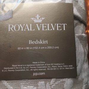 Royal Velvet Bedskirt